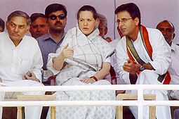 Randeep with Smt. Soniaji